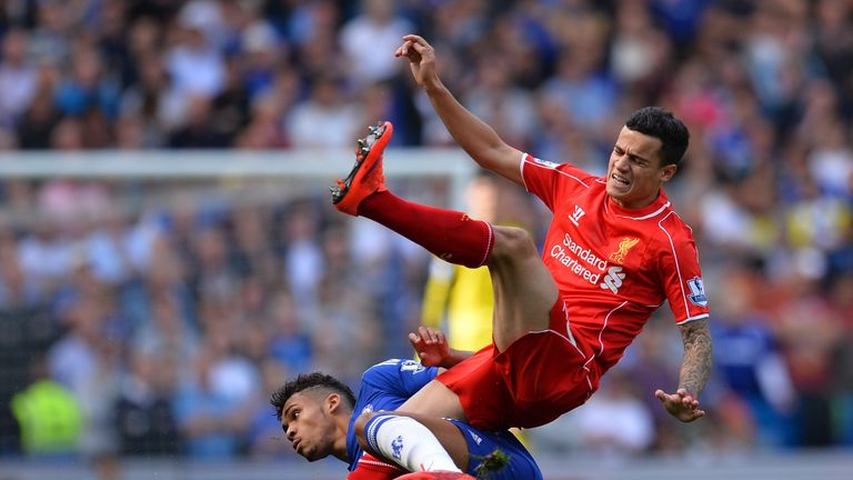 Ruben Loftus-Cheek got in an early foul on danger man Philippe Coutinho