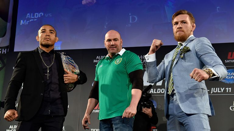 McGregor will fight Aldo (L) in December to unify titles