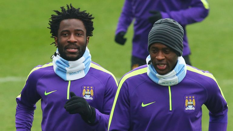 Wilfred Bony (left) has suffered with injury problems of his own since moving to the Etihad Stadium
