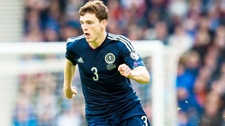 Andy Robertson was named Scotland's PFA Player of the Year in 2013/14