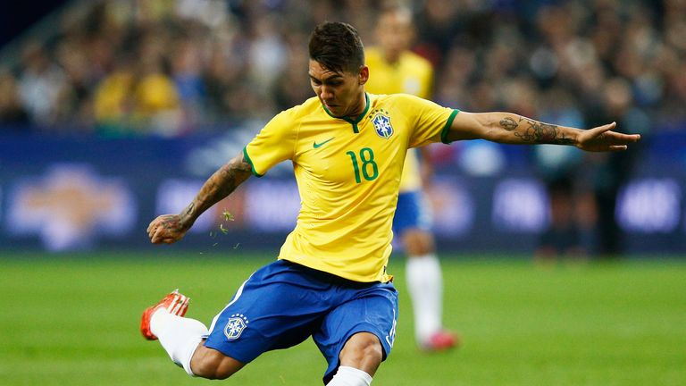 Roberto Firmino: Expected to lead the line for Brazil in Chile