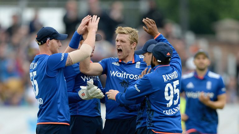 David Willey (C) has impressed with the ball in England's T20I and ODI teams this summer? Is a Test call-up round the corner?
