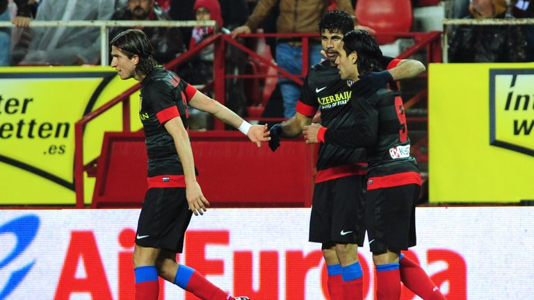 Costa enjoyed four successful years with Atletico Madrid