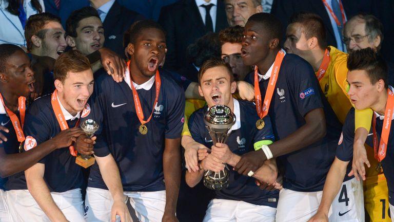 Dayot Upamecano (No.4) helped France to Euro U17 glory in Bulgaria
