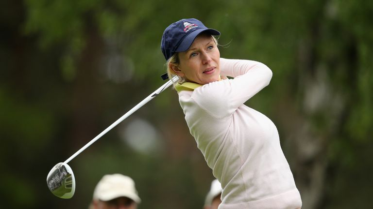 Di Dougherty on the course. Her target is to get down to single figures by the end of the year