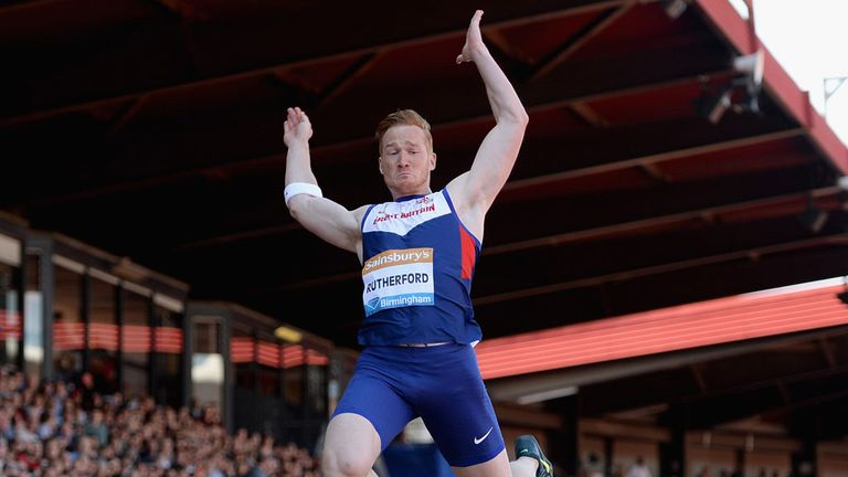 Greg Rutherford leaps to victory in the long jump