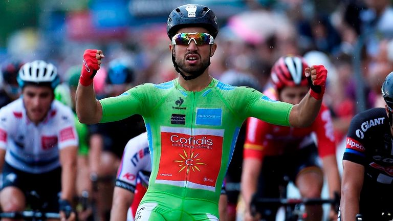 Nacer Bouhanni won his second stage of this year's Criterium du Dauphine