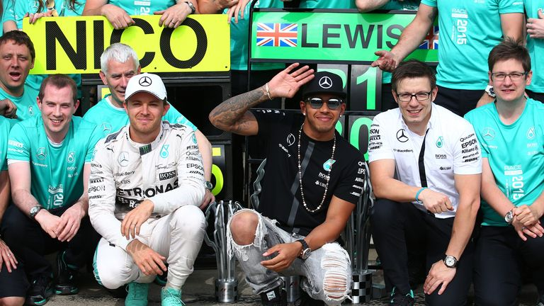 Lewis Hamilton and Nico Rosberg after Mercedes' latest 1-2 finish in Canada