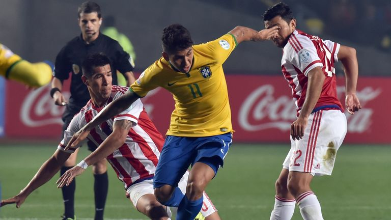 Roberto Firmino, in action against Paraguay, had a mixed tournament