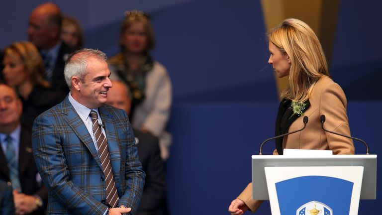 Ryder Cup honour: Di presented the opening and closing ceremonies at Gleneagles last year
