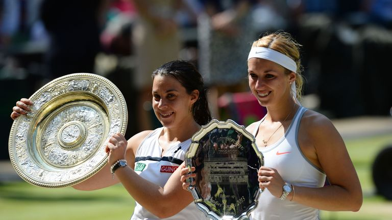 Bartoli defeated Sabine Lisicki to win the Wimbledon showpiece