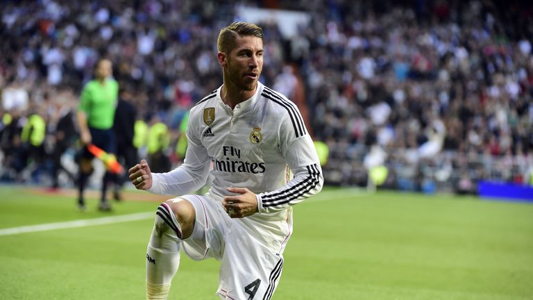 Real Madrid's Sergio Ramos was linked with a move to Man Utd over the summer