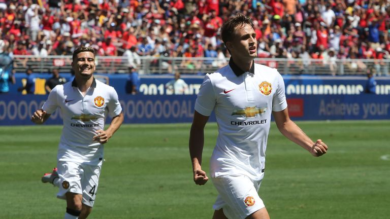 Adnan Januzaj (front) sealed Manchester United's win with a late goal