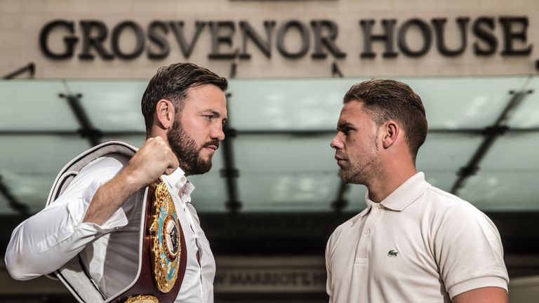 Andy Lee up next for Billy Joe Saunders (r)