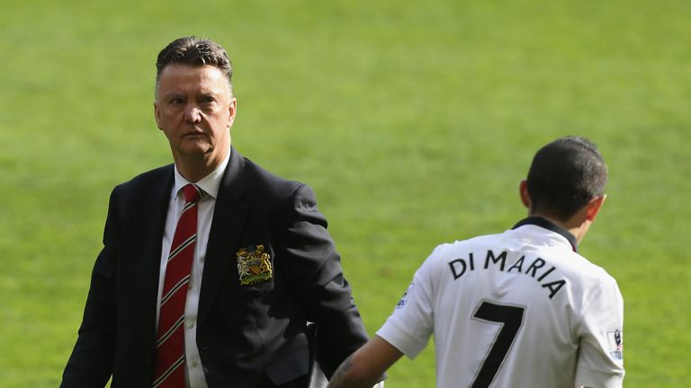 Louis van Gaal and Angel Di Maria look set to part ways