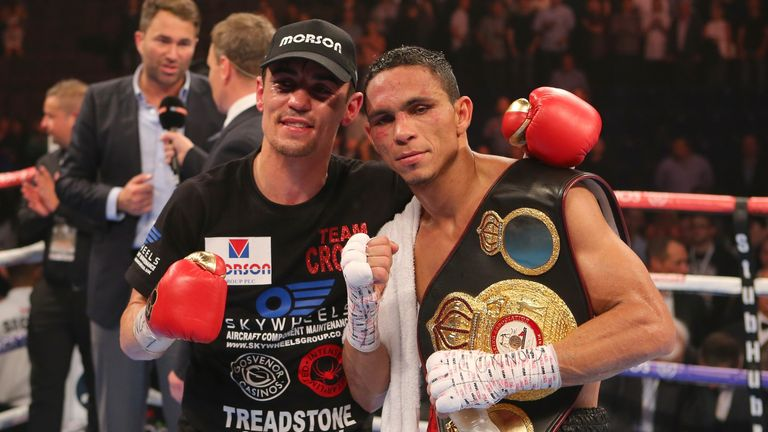 Anthony Crolla and Darleys Perez after their draw in July