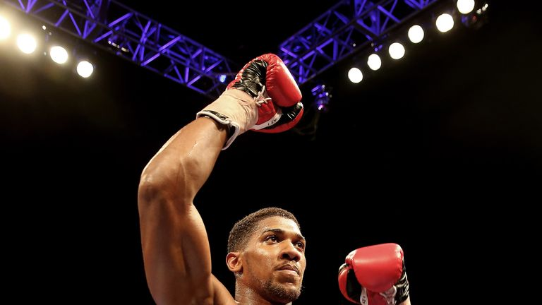 Anthony Joshua is heading for a showdown with Dillian Whyte