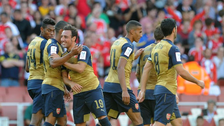 Santi Cazorla completed the scoring in Arsenal's 6-0 win