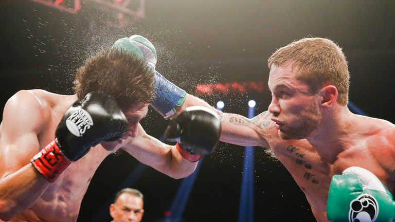 Frampton in action against Alejandro Gonzalez Jr