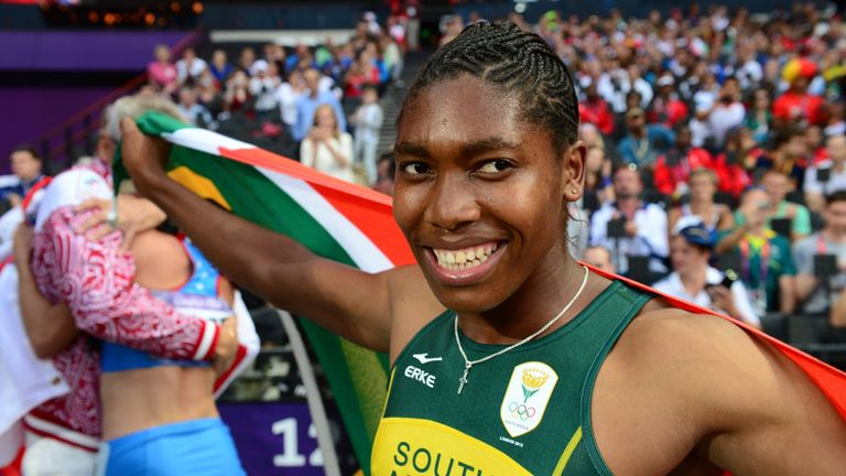 Semenya won silver in the 800m at the 2012 Olympic Games in London
