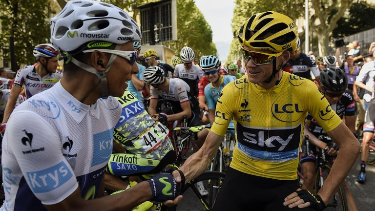 Froome and Nairo Quintana (left) fought out a close battle