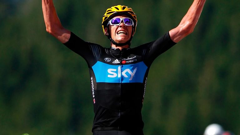 Froome won his first Tour stage win in 2012