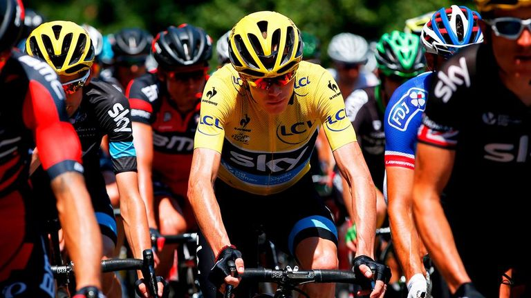 Froome was superbly protected by his team-mates on stage 11