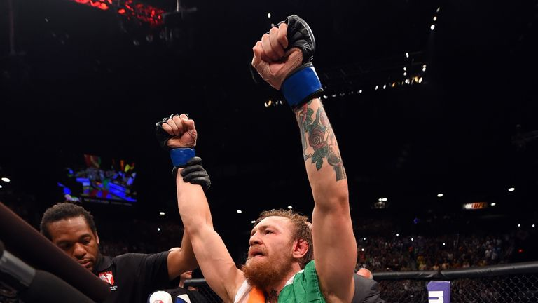 Conor McGregor won the interim featherweight title this summer