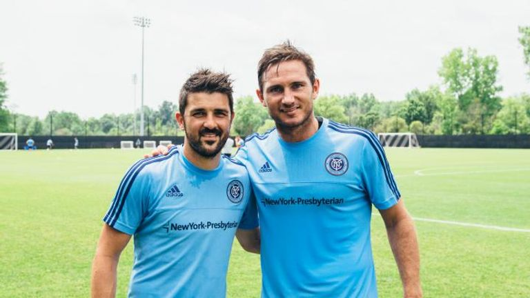 David Villa and Frank Lampard of New York City