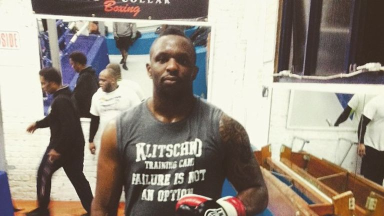Whyte in camp: courtesy of @dillianwhyte Instagram