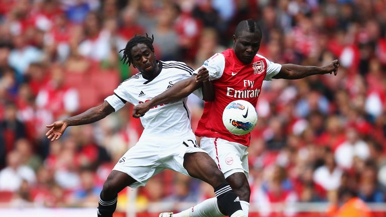 Emmanuel Frimpong (right) burst onto the scene before fading from the first-team