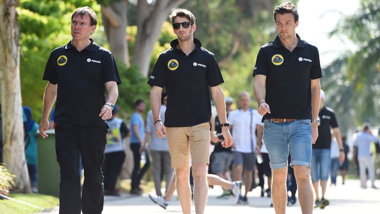Romain Grosjean and Jolyon Palmer