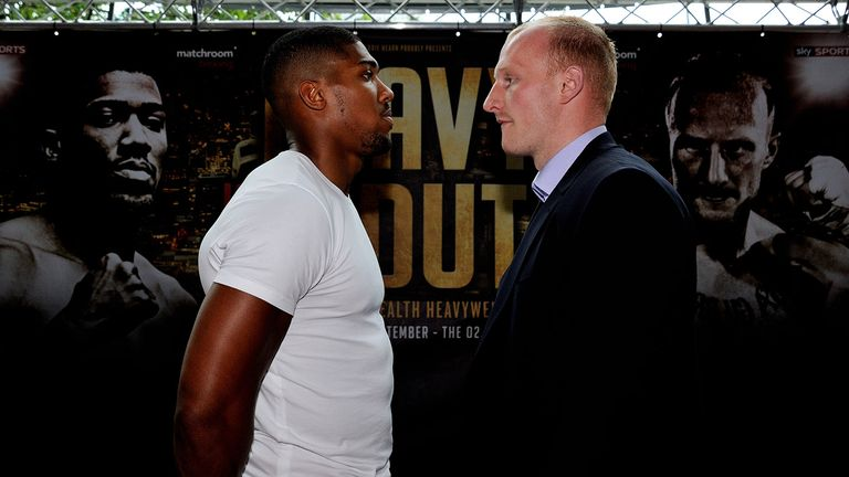 Gary Cornish (right): Does not fear power of Anthony Joshua