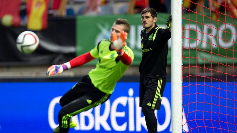 De Gea is set to be the successor to Iker Casillas (right) at Real Madrid