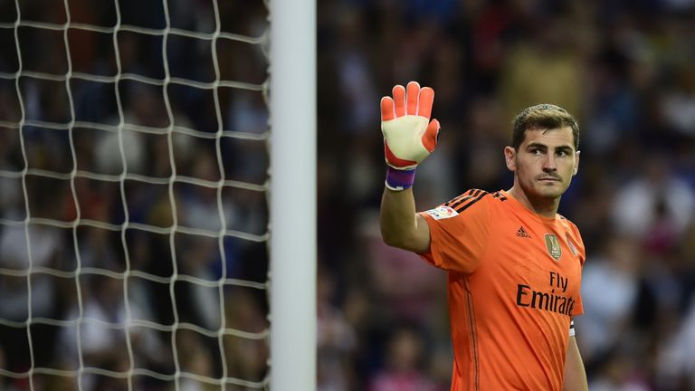 Casillas left Real Madrid to join Porto last summer