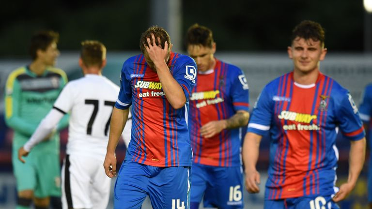Inverness lost 1-0 in their first European fixture in the Highlands