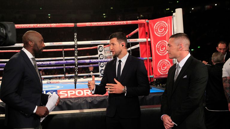 Froch is happy being on the 'safe' side of the ropes on Fight Night