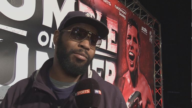New trainer Johnathon Banks has been overseeing Whyte's preparations