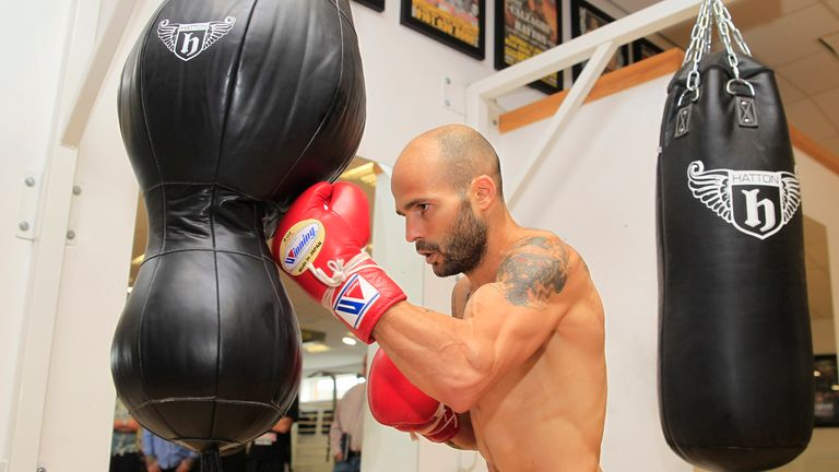 Kiko Martinez trains ahead of Scott Quigg fight