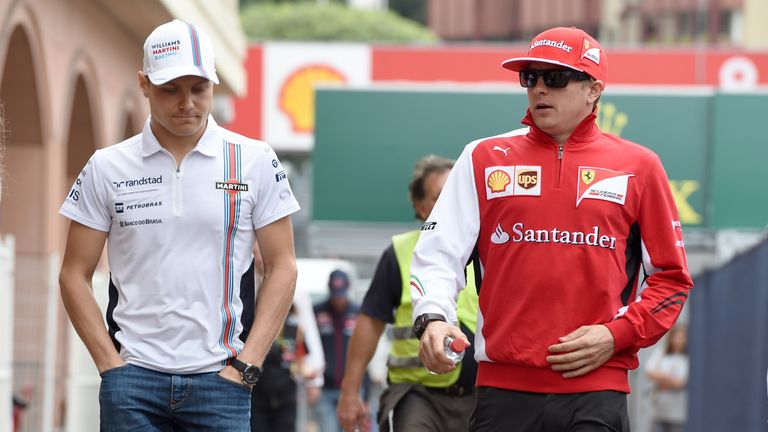 Finnish compatriots Valtteri Bottas and Kimi Raikkonen