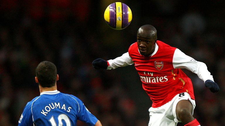 Lassana Diarra (right) failed to get much first-team action with Arsenal