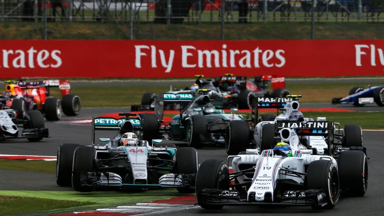 Lewis Hamilton ran wide at the restart, giving Bottas the chance to create a Williams one-two
