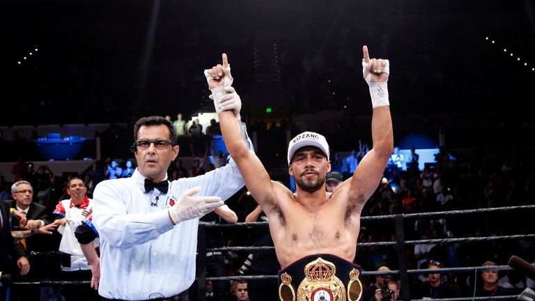Keith Thurman celebrates victory over Luis Collazo