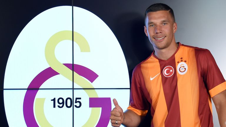 Lukas Podolski: Has left Arsenal to join Galatasaray