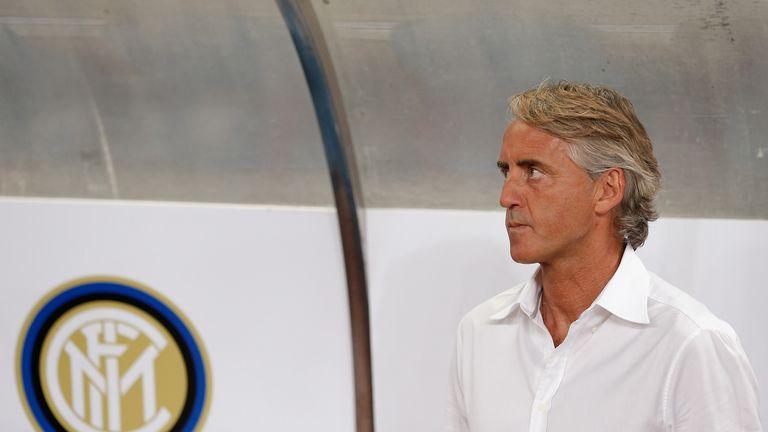 Inter Milan head coach Roberto Mancini