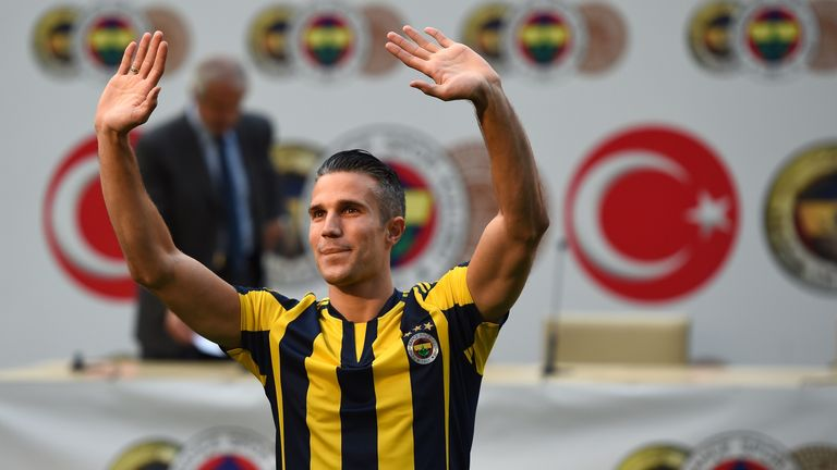Robin van Persie was unveiled by Fenerbahce on Tuesday