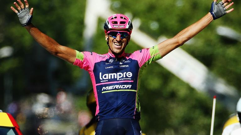 Breakaway rider Ruben Plaza won stage 16