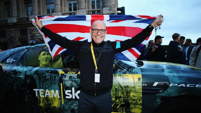 Brailsford celebrates Chris Froome's second Tour de France win