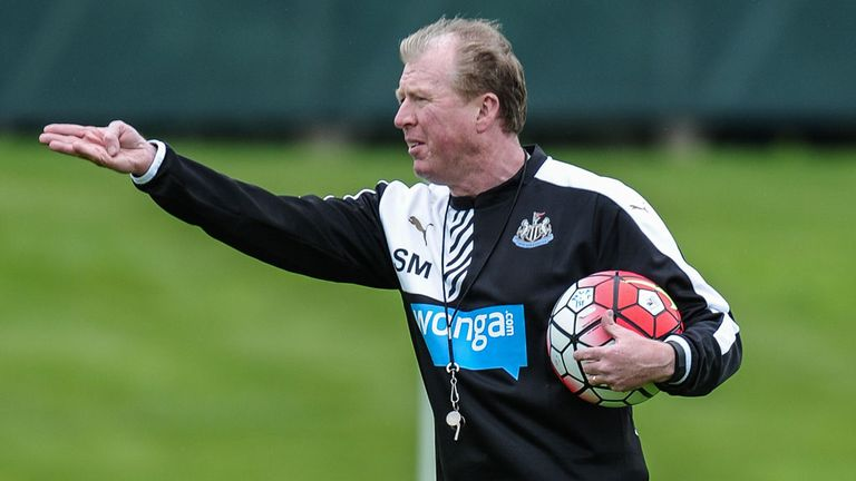 Newcastle manager Steve McClaren has completed his search for a new striker