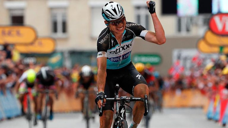 Tony Martin took the yellow jersey with a solo win on stage four